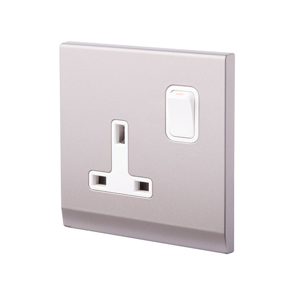 Simplicity 13A DP Single Plug Socket with Switch
