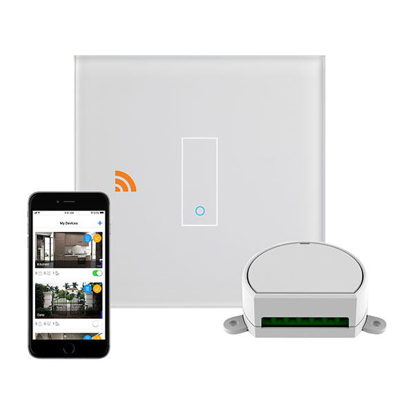 Crystal PG 1G Iotty Wifi Smart Dimmer Switch White
